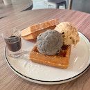 Hazelnut Cookie Dough & Black Sesame + Waffle