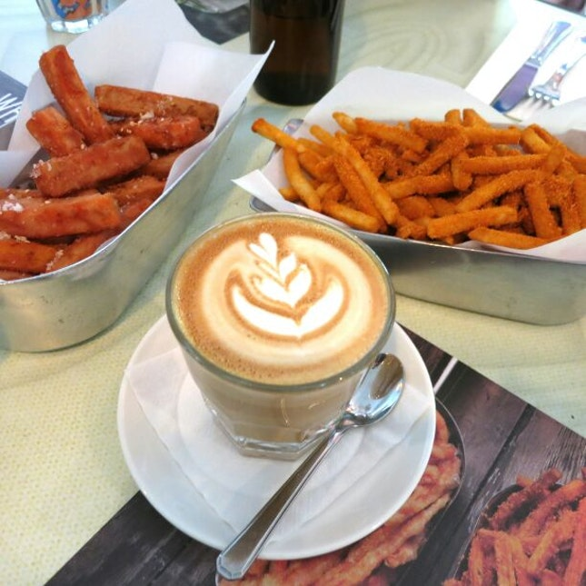 Latte, Sweet Potato, and Curry Fries