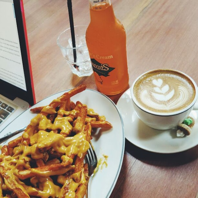 Cheese Fries, Orange Cream Soda, Latter