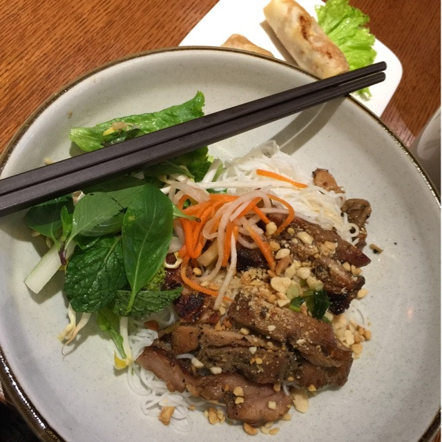 Rice Vermicelli With Grilled Chicken