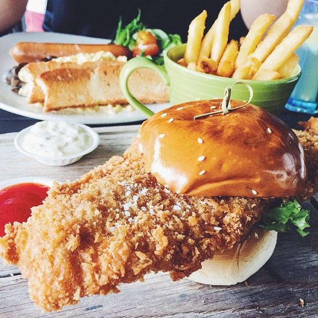 Sunday Brunch - Breakfast Set & Fish Burger 🍟🍔🍴