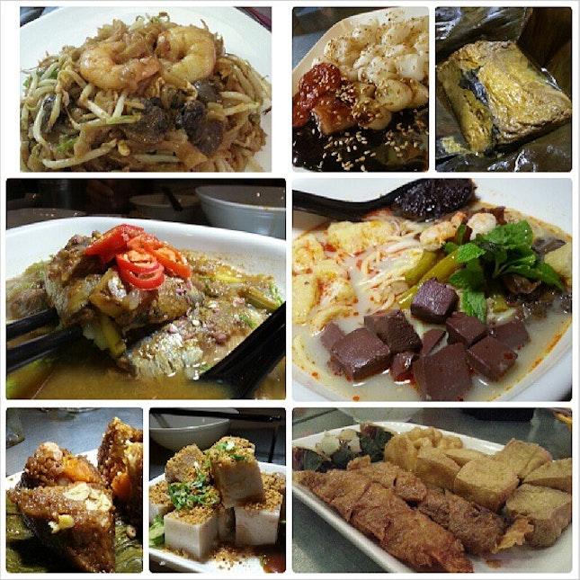 Authentic Penang flavours of CKT, Chee Cheung Fun, otak-otak, assam laksa, Curry Mee (my fav!!), rice dumpling, yam cake & loh bak.