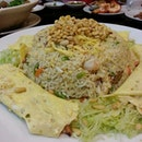 Abalone Seafood Fried Rice with Pine Seed