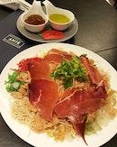 @anterestaurant's Lou Hei - the meaty version of Yee Sang.
