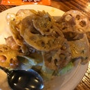 Golden Lotus Roots w Pumpkin