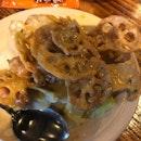 Golden Lotus Roots w Pumpkin