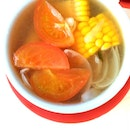 """Delicious & healthy """"ABC"""" soup with carrots, corn & pork ribs recommended by @ieatishootipost No additional MSG, no thick layer of oil."""