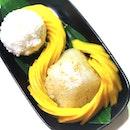 Mango sticky rice a piece of art.
