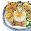 This is what you get when Nasi Lemak marries Tendon.
