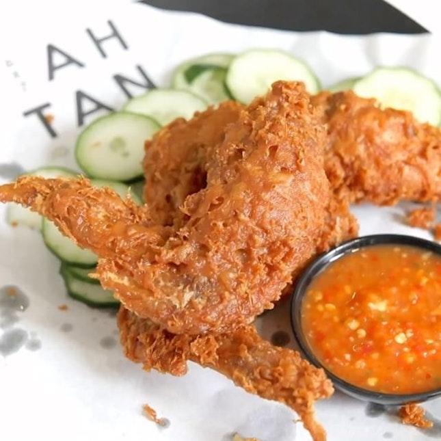 Finally made my way to try Ah Tan Wings - double fried Har Cheong Gai.