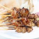 Famous Grilled Pork Satay from Old Airport.