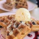 Lavender Waffle with Vanilla Gelato