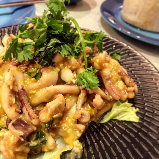 Runny Salted Egg Squid