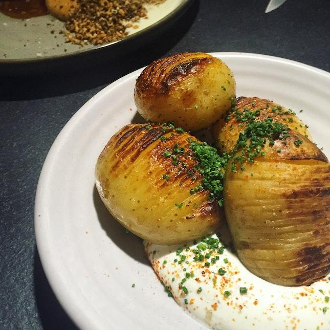 Roasted HassleBack Potatoes ($10)