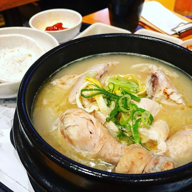 The Korean ginseng chicken soup that is so value for money.