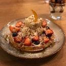 Salted Gula Melaka Waffle