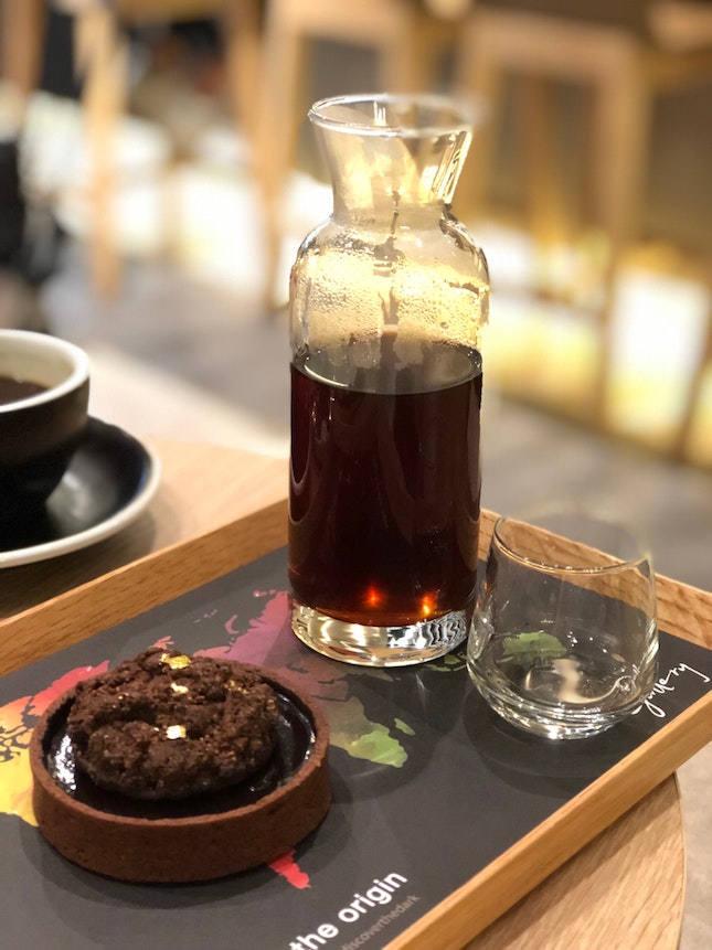 Chocolate Tart With Pour Over Coffee Set $15