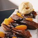 Peach Waffles With Vanilla Gelato ($12.80)