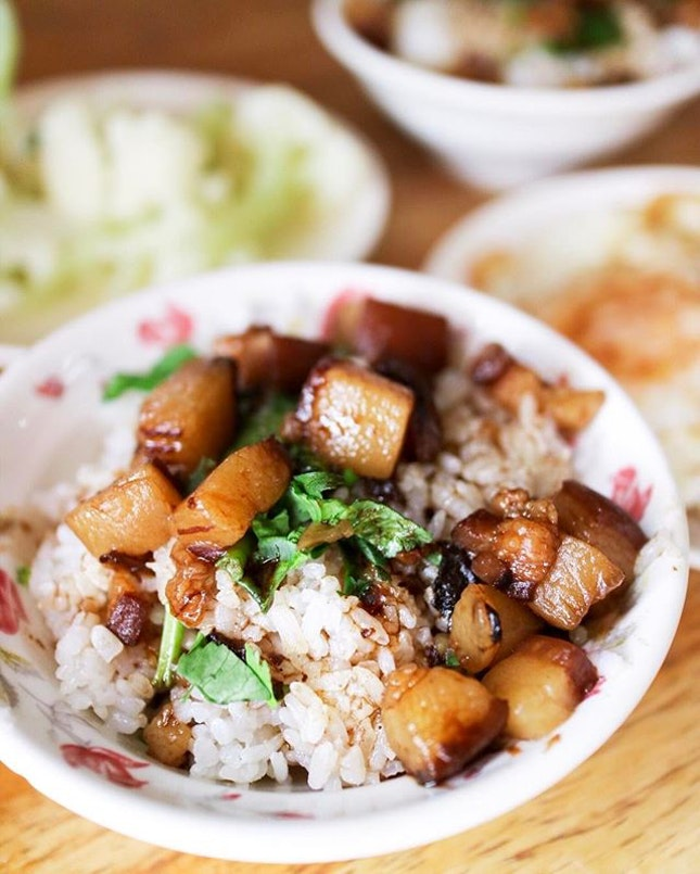 Off the beaten track and a hole-in-the-wall local eatery that has a constant queue for a bowl of this braised pork belly rice.