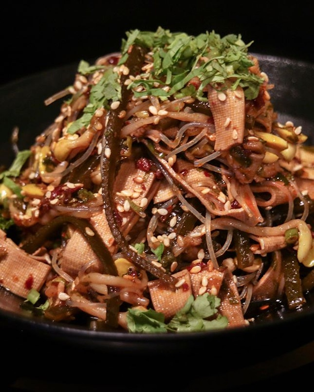 While waiting for the bubbling action to begin, start your dining experience at LongQing with the Chilled Seaweed with Homemade Sauce ($9.80), a refreshing salad which contains seaweed, beancurd skin, vermicelli and other ingredients mixed in with Sichuan spices.