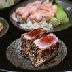 The latest 2018 Grand Menu from SUN with MOON Japanese Dining & Cafe features a lineup of new creations starting with the Zensai Mori ($16.80), a 7 bite-sized appetizers, followed by a meat lover platter of Steak Moriawase ($45.80), a grill combo of Japanese wagyu, US tenderloin and pork steak and Temari Sushi ($23.80), sushi hand-shaped into mini balls.