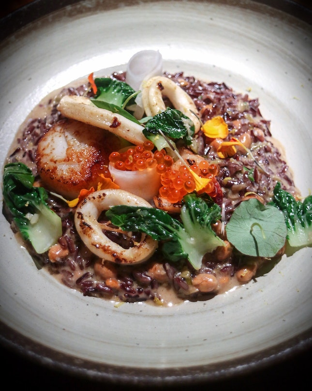 """Coming out from a tasting at @BirdsofaFeatherSG inspired me to create a list on my @Burpple page titled """"Places That Left a Lasting Impression"""" because some of the dishes here have been nothing short of surprising, in a good way."""