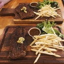 We tried the Sirloin and Ribeye at newly opened Stirling Steaks and it was every bit as good as we expected!