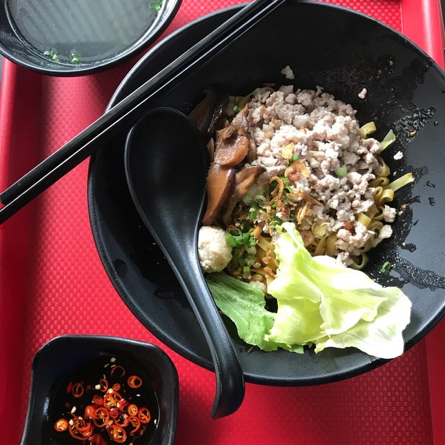 Minced Pork Noodle $4.60 (-$1 Tray Return)