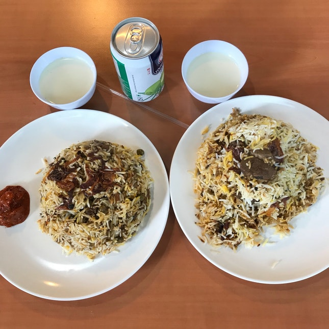 Goat briyani $15 And Vegetarian Briyani $8.50
