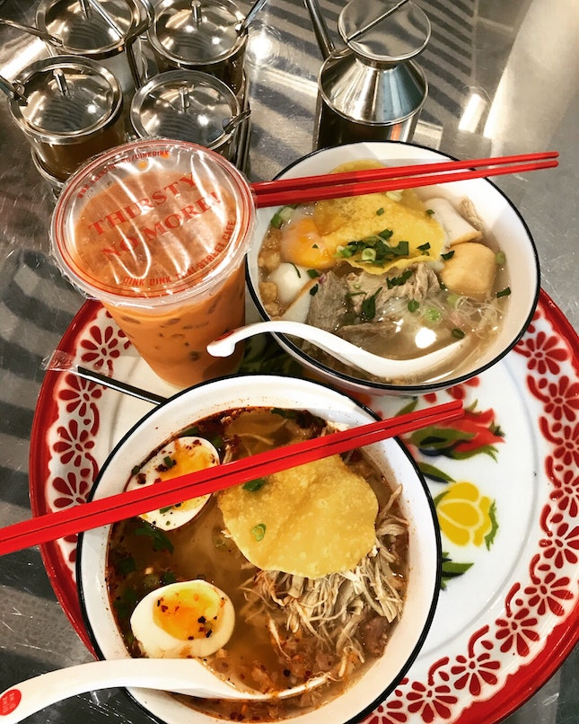 Classic Chicken Noodle $5.80 + Tom Yum Noodle $