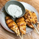 New! Chicken Skewers With Cashew Nut Dip $7.90