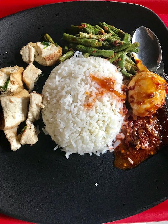 Mixed Veg Rice $3.88 @ Rong Ma Curry Rice