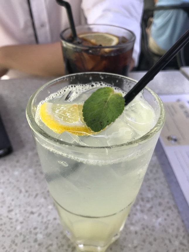 Mint Lemonade $6 & Coke $5