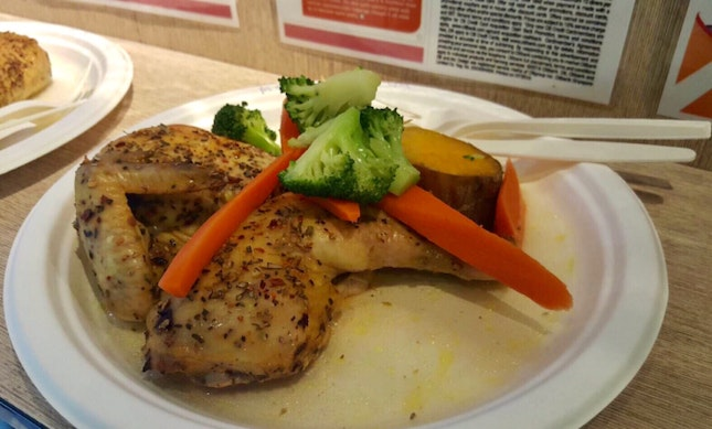 Set Meal (1/2 Chicken With 2 Sides)$18