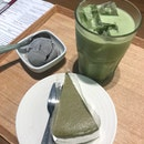 Green Tea Cheesecake With Black Sesame Ice Cream ($7.90)