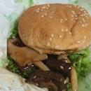Mix Mushroom Burger $9.90 (comes With Fries & Ketchup)