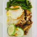 2 Kuning Fish, Long Bean, Fried Egg Nasi Lemak $6.50
