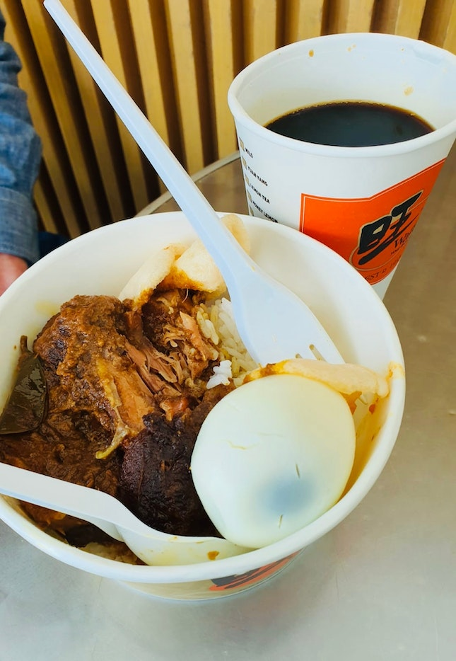 Chicken Rendang + Coffee ($9.50)