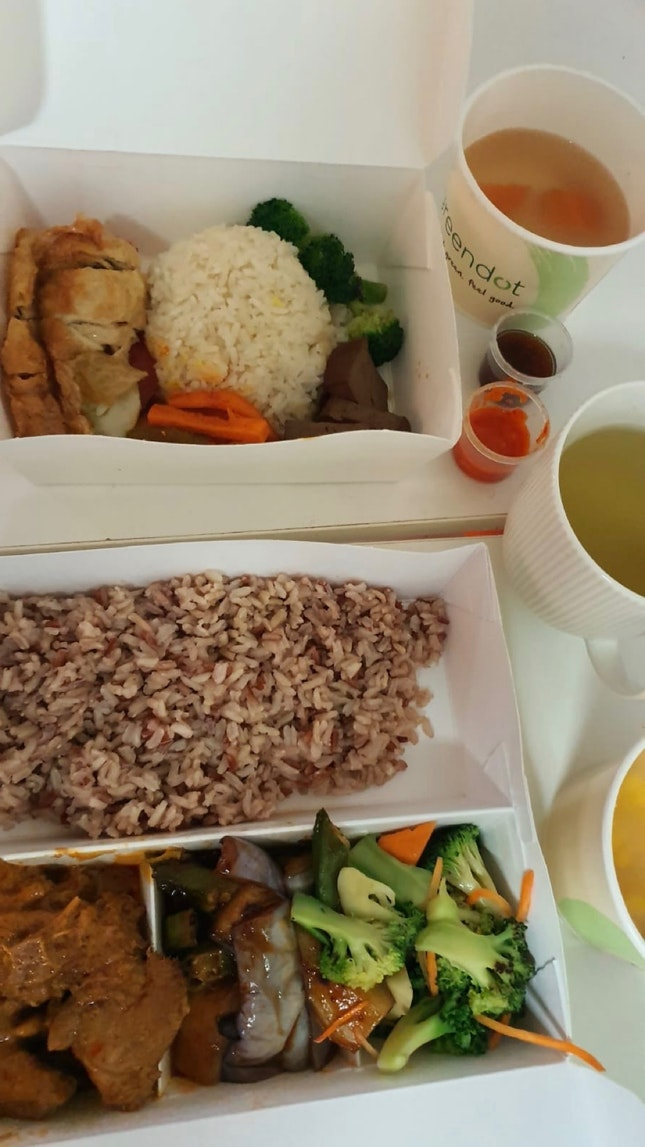 Bento Premium (Rendang) $8.90 + New! Crispy Beancurd Sesame Rice Set ($7.90)