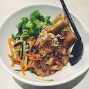 We are going Vietnamese tonight - lemongrass chicken vermicelli!