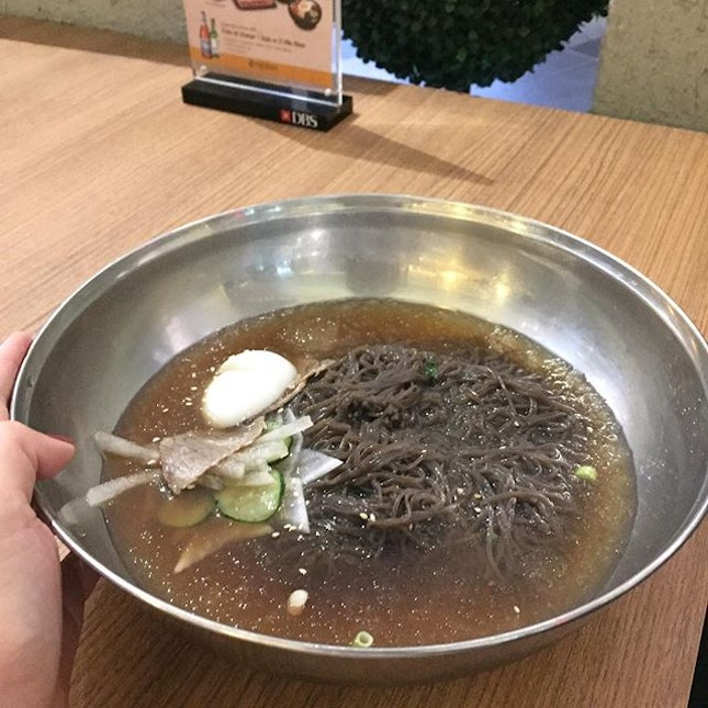 This 냉면 Cold Buckwheat Noodles, is super huge!!!!