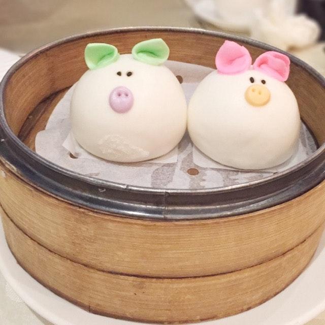 Steamed Piggy Bun  宝贝猪子包