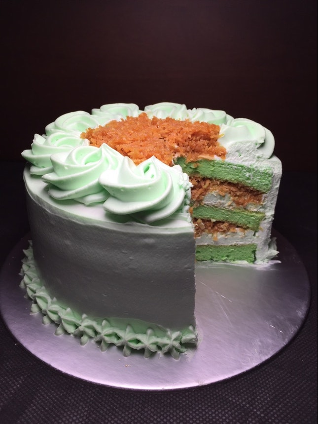 Ondeh ondeh cake