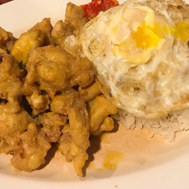 Salted Egg Yolk Chicken Rice