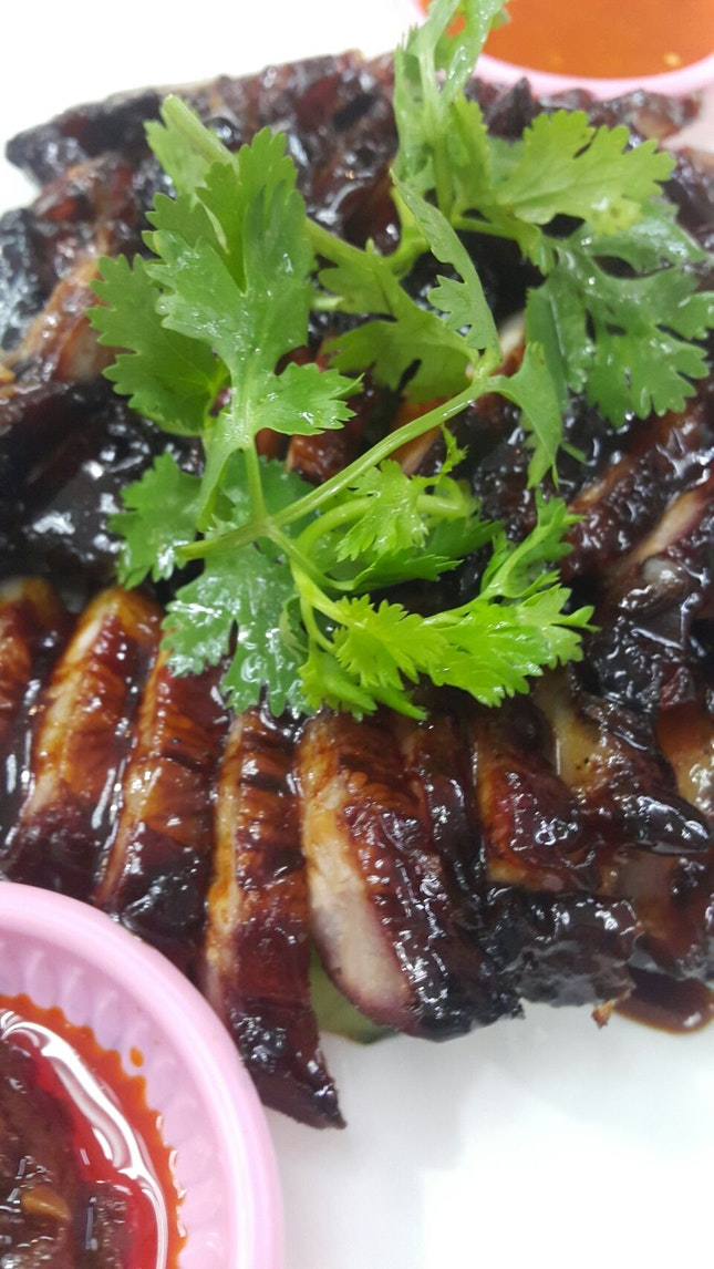 Char Siew In Zichar Stall