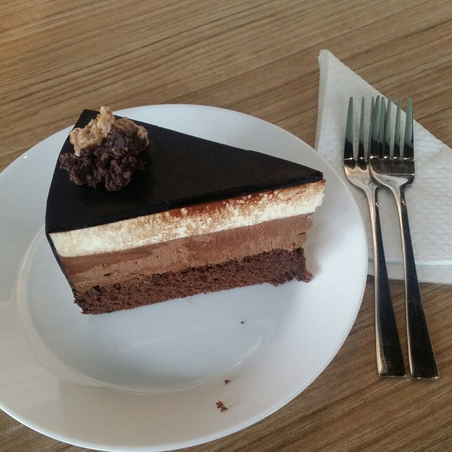 Triple Chocolate Coma Cake