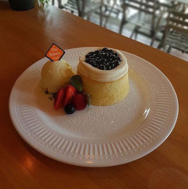 Boba Thai Milk Tea Lava Cake