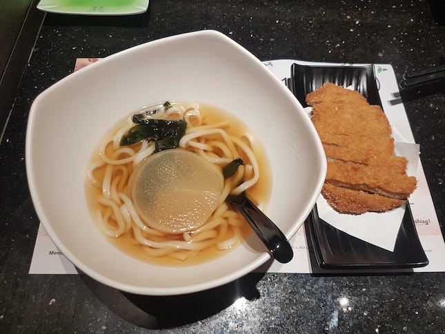 Udon In Soup With Pork Chop