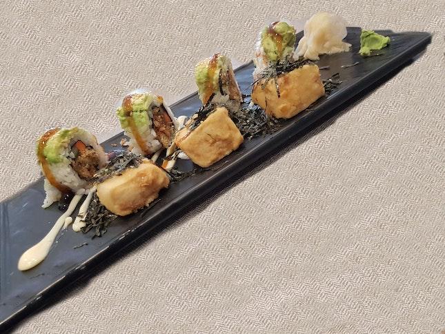 Tempura Tofu With Avocado Roll