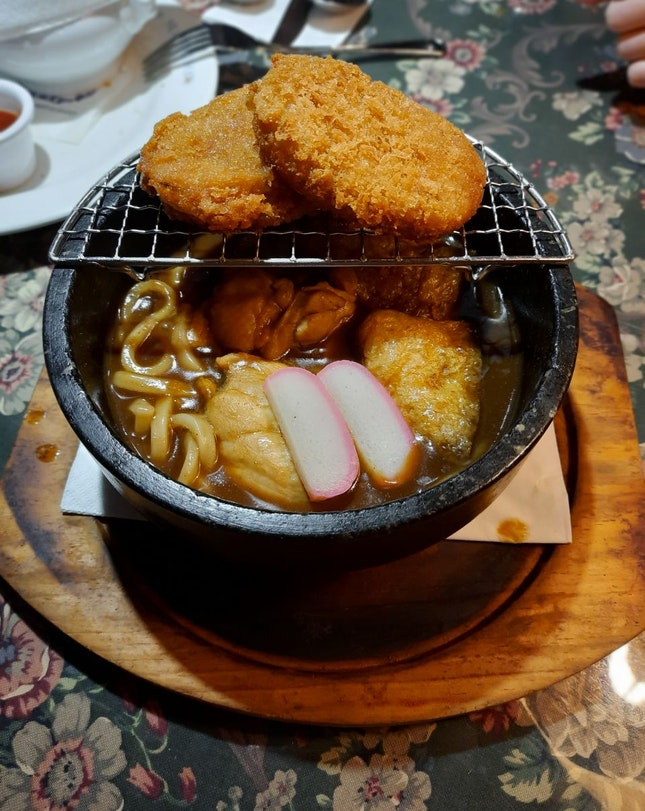 Curry Udon With Potato Croquette
